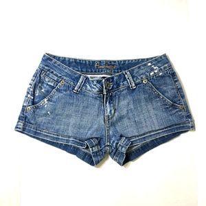 AMETHYST Distressed Denim Shorts